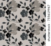 stylish endless pattern with...   Shutterstock .eps vector #755619967