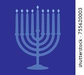hanukkah menorah. simple vector ...   Shutterstock .eps vector #755620003