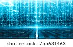 futuristic technology digital... | Shutterstock . vector #755631463