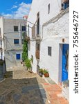 typical white and narrow... | Shutterstock . vector #755646727