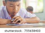 asian rural student interest... | Shutterstock . vector #755658403