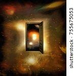 3d Rendering. Surrealism. Door...