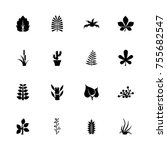 plants icons   expand to any... | Shutterstock .eps vector #755682547