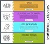 casino web banner templates set.... | Shutterstock .eps vector #755707297