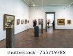 abstract defocused blur art... | Shutterstock . vector #755719783