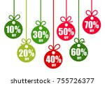 set of discount tags 10 20 30... | Shutterstock .eps vector #755726377