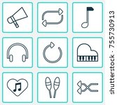 multimedia icons set. includes...