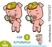 find differences  education...   Shutterstock .eps vector #755733727