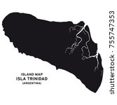 island map of isla trinidad ... | Shutterstock .eps vector #755747353
