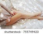 rest  sleeping  comfort and... | Shutterstock . vector #755749423