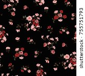 floral pattern in vector | Shutterstock .eps vector #755751793