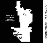 phoenix  arizona  usa city map... | Shutterstock .eps vector #755757877