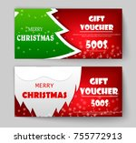 christmas and new year gift...   Shutterstock .eps vector #755772913