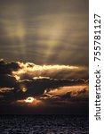 spiritual awakening. dramatic... | Shutterstock . vector #755781127