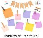 scrapbook elements   perfect...   Shutterstock . vector #755793427