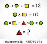 geometric figures  mathematics | Shutterstock .eps vector #755793973
