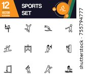 sport icon collection vector set   Shutterstock .eps vector #755794777