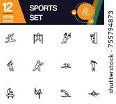 sport icon collection vector set   Shutterstock .eps vector #755794873