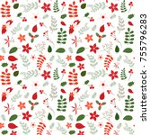 holiday seamless vector pattern ... | Shutterstock .eps vector #755796283