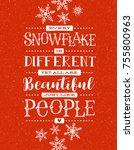 holiday card  banner or poster... | Shutterstock .eps vector #755800963
