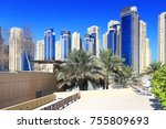 luxury residential district...   Shutterstock . vector #755809693