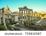 foro romano used to be the city ... | Shutterstock . vector #755810587