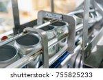 upward conveyor line carrying... | Shutterstock . vector #755825233