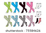 Girls and Boy Socks - stock vector