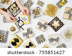 women organising beautifully... | Shutterstock . vector #755851627