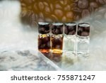 coffee tasting with reference... | Shutterstock . vector #755871247