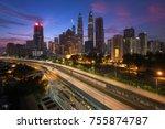 kuala lumpur skyline view in...   Shutterstock . vector #755874787