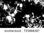 seamless paint splatter pattern | Shutterstock .eps vector #755888287