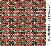 seamless geometric pattern in... | Shutterstock . vector #755901127