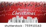 merry christmas festival... | Shutterstock .eps vector #755910163