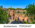 ruins of ancient civilization.... | Shutterstock . vector #755924107