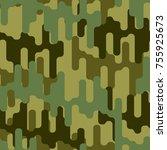 hunter texture. protective... | Shutterstock .eps vector #755925673