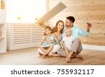 concept housing a young family. ... | Shutterstock . vector #755932117
