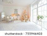 luxurious expensive light... | Shutterstock . vector #755946403