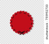 red round paper cut style label ...   Shutterstock .eps vector #755952733