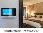 smart screen with smart home... | Shutterstock . vector #755966947