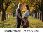 young couple in love together... | Shutterstock . vector #755979223