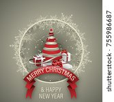 holiday vector background.... | Shutterstock .eps vector #755986687