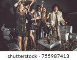 new year party celebration in... | Shutterstock . vector #755987413