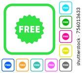 free sticker vivid colored flat ...   Shutterstock .eps vector #756013633