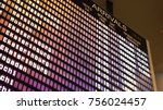 departures board at the airport.... | Shutterstock . vector #756024457