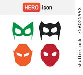 mask superhero. super hero... | Shutterstock . vector #756025993