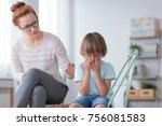 parenthood and child... | Shutterstock . vector #756081583