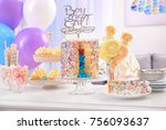 tasty treats served for baby... | Shutterstock . vector #756093637