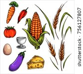 vector illustration of farm...   Shutterstock .eps vector #756127807