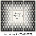 geometric triangle halftone... | Shutterstock .eps vector #756133777